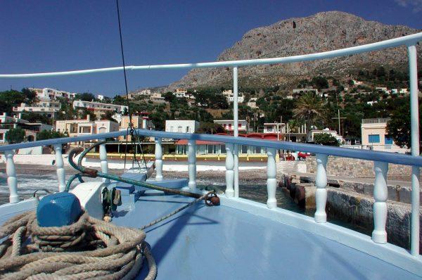 De boot van Kalymnos naar Telendos - Foto van H. Kerkhof